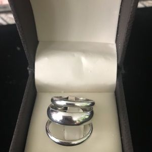 925 Sterling silver three band ring